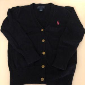 Polo Ralph Lauren Navy Girls Cardigan Sweater 4T